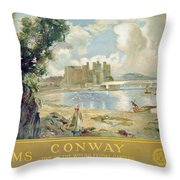 Conway Castle Throw Pillow by Sir David Murray