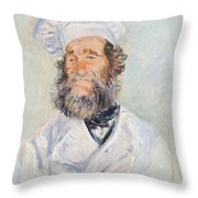 Cook Throw Pillow by Claude Monet