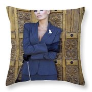 Cool Blonde Palm Springs Throw Pillow by William Dey