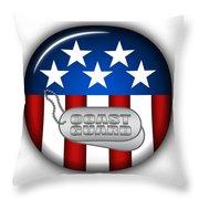 Cool Coast Guard Insignia Throw Pillow by Pamela Johnson