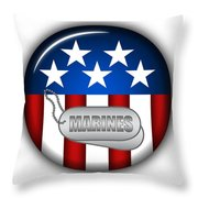 Cool Marines Insignia Throw Pillow by Pamela Johnson