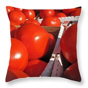 Cool Tomatoes Throw Pillow by Barbara McDevitt
