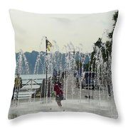 Cooling Off Throw Pillow by Avis  Noelle
