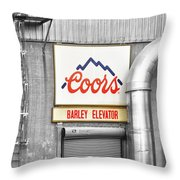 Coors Barley Elevator Bw Color Throw Pillow by James BO  Insogna