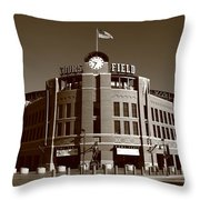 Coors Field - Colorado Rockies 19 Throw Pillow by Frank Romeo