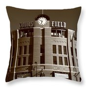 Coors Field - Colorado Rockies 20 Throw Pillow by Frank Romeo