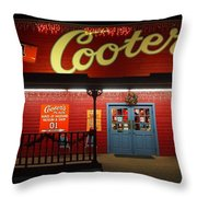 Cooters At Christmas Throw Pillow by Dan Sproul