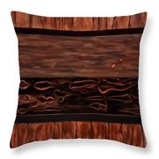 Copper Dots Throw Pillow by Michael Pickett