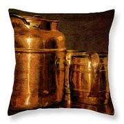 Copper Throw Pillow by Lois Bryan