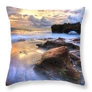 Coral Garden Throw Pillow by Debra and Dave Vanderlaan
