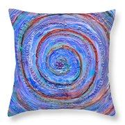 Coriolis 3 Throw Pillow by Regina Valluzzi