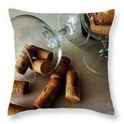 Corks 2 Throw Pillow by Cheryl Young