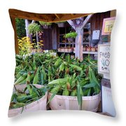 Corn Throw Pillow by Janice Drew
