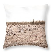Corn Shocks Throw Pillow by Maggy Marsh