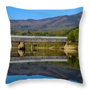 Cornish Windsor Covered Bridge Throw Pillow by Edward Fielding