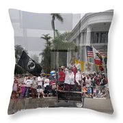 Coronado Fourth Of July Parade Throw Pillow by Stephen Farley