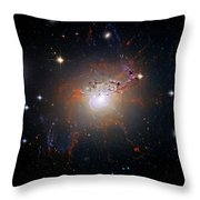 Cosmic Fireworks Throw Pillow by The  Vault - Jennifer Rondinelli Reilly