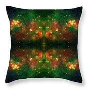 Cosmic Kaleidoscope 3 Throw Pillow by The  Vault - Jennifer Rondinelli Reilly