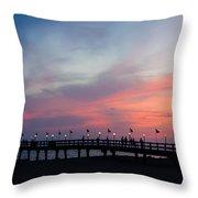 Costa Rican Sunset Throw Pillow by Adam Romanowicz