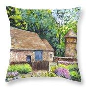 Cotswold Barn Throw Pillow by Carol Wisniewski