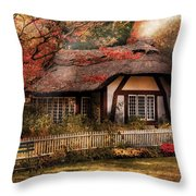 Cottage - Nana's House Throw Pillow by Mike Savad