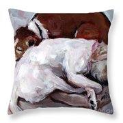 Cottonball Throw Pillow by Molly Poole