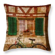 Country Charm Throw Pillow by Debra and Dave Vanderlaan