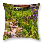 Country Garden Throw Pillow by Omaste Witkowski