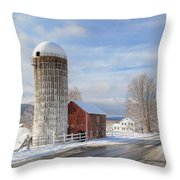 Country Snow Throw Pillow by Bill Wakeley