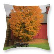 Country Wagon Throw Pillow by Bill Wakeley