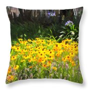 Countryside Cottage Garden 5D24560 long Throw Pillow by Wingsdomain Art and Photography