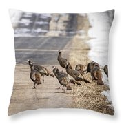 County Road Crew Throw Pillow by Thomas Young