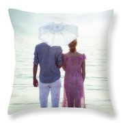 Couple On The Beach Throw Pillow by Joana Kruse