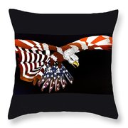 Courage Throw Pillow by Charles Drummond
