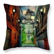 Courthouse Throw Pillow by Tom Mc Nemar