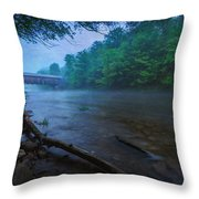 Covered Bridge  Throw Pillow by Everet Regal