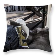 Cowboy Up Throw Pillow by Amber Kresge