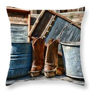 Cowboys Have Laundry Too Throw Pillow by Paul Ward
