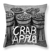 Crab Apples Throw Pillow by Digital Reproductions
