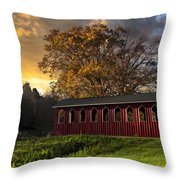 Crack Of Dawn Throw Pillow by Debra and Dave Vanderlaan