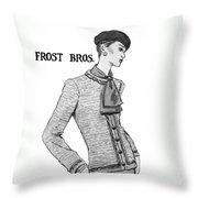 Cravat Throw Pillow by Sarah Parks