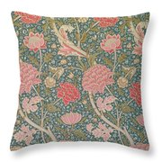 Cray Throw Pillow by William Morris