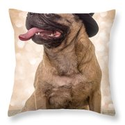 Crazy Top Dog Throw Pillow by Edward Fielding