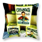Creamoata - Cream  O' The Oat Throw Pillow by Steve Taylor