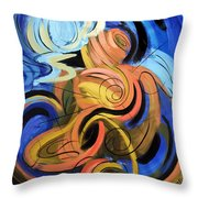 Creation Of Man Throw Pillow by Anthony Falbo