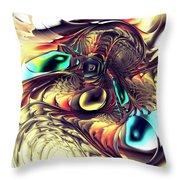 Creature Throw Pillow by Anastasiya Malakhova