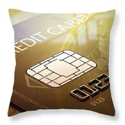 Credit Card Macro - 3d Graphic Throw Pillow by Johan Swanepoel