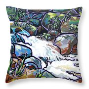 Creek Throw Pillow by Nadi Spencer