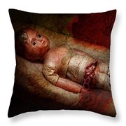Creepy - Weird - No One Ever Suspected  Throw Pillow by Mike Savad