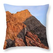 Crestone Needle Sunrise Throw Pillow by Aaron Spong